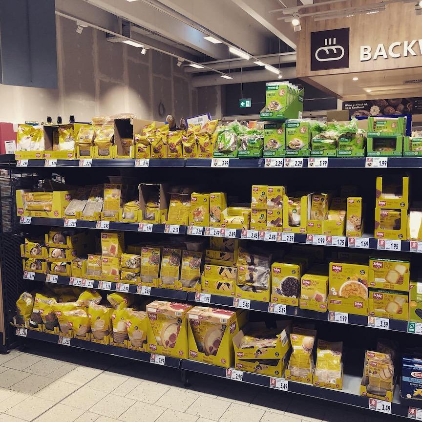 Glutenfreies Regal bei Kaufland
