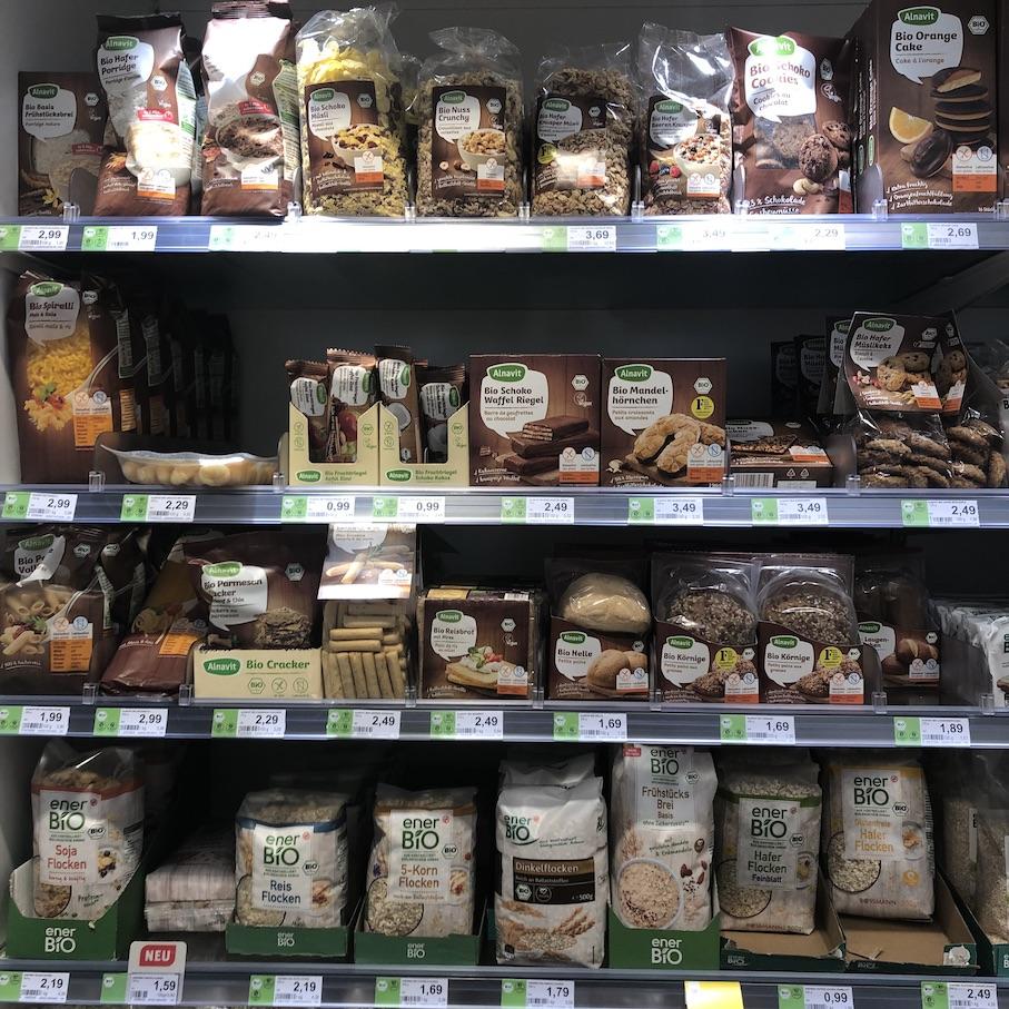 Glutenfreies Regal bei Rossmann