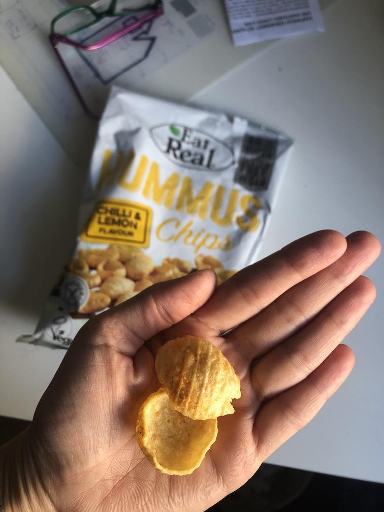 Snacks für unterwegs - Hummus Chips