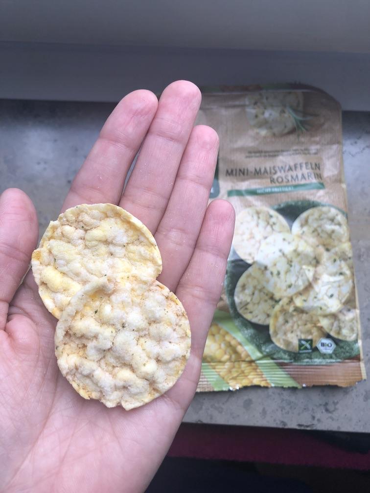 Snacks für unterwegs - Maiswaffeln Rosmarin