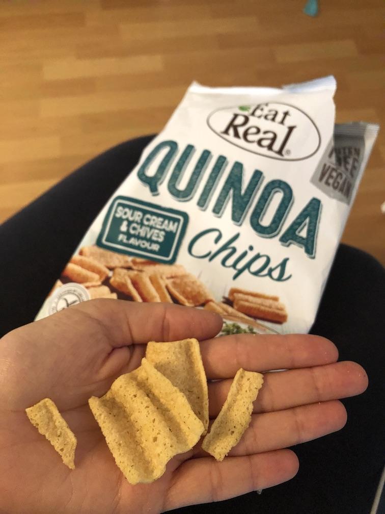 Snacks für unterwegs - Quinoa-Chips