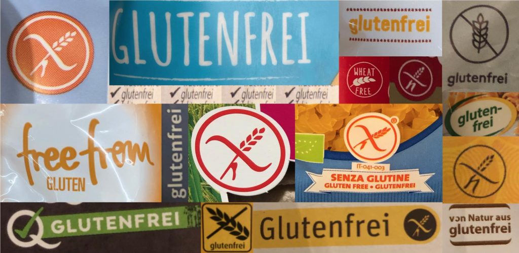 Zum Erkennen von glutenfreien Artikeln gibt es verschiedene Siegel.